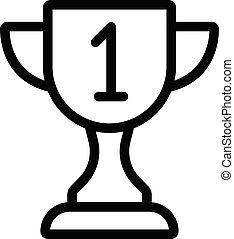 reward vector thin line icon