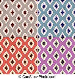 Rhombus ikat seamless pattern fabric texture