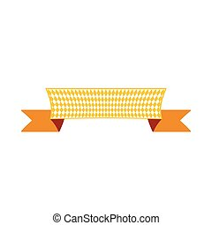 Ribbon banner with copyspace color illustration