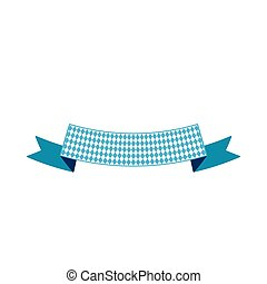 Ribbon banner with copyspace flat color illustration