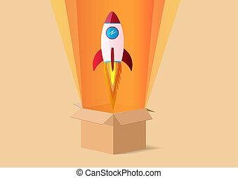 Rocket launch from the opening box.