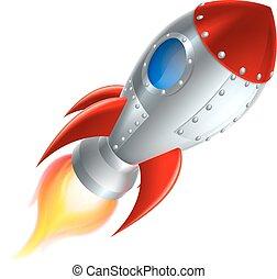 Rocket Space Ship Cartoon