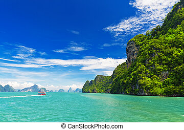 tropical landscape in the Pang Nga bay, Thailand