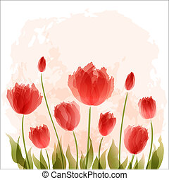 Romantic background with blooming