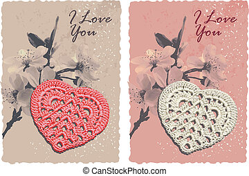 romantic card with heart
