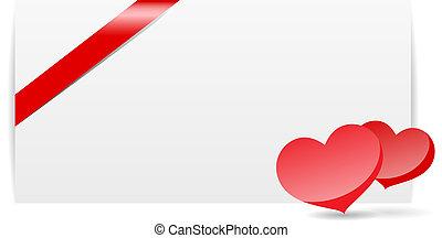 Romantic valentine card template