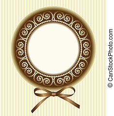 round frame with a bow