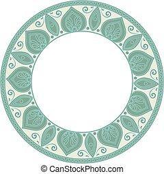 round green frame