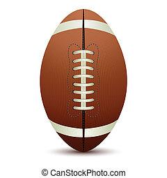 illustration of rugby ball on isolated white background