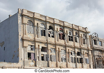 Ruined building on the Havana Malecon