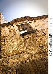 Ruined house and window