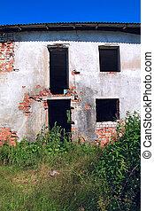 ruined house