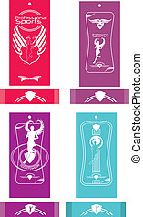runner sports label vector art