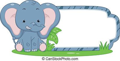 Safari Label Elephant