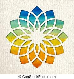 Sahasrara crown chakra design for yoga