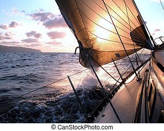 sailing to the sunrise