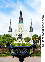 Saint Louis Cathedral as Viewed From Jackson Square