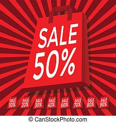 Sale 10 - 90 percent text on