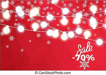 Sale 70 Percent Winter Concept Background Bulbs