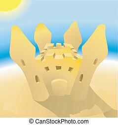 sandcastle illustration