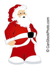 Santa Claus Illustration with Clipping Path