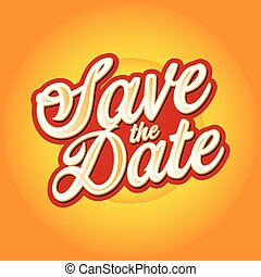 Save the Date sign lettering