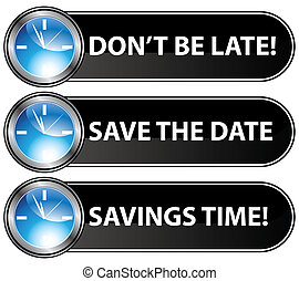 An image of save the date time buttons.