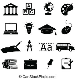 School and education related symbols