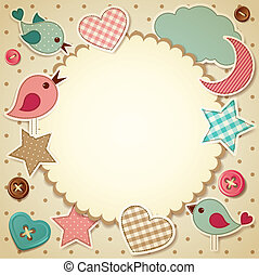 Vector illustration - scrapbook background, eps10