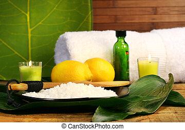 Sea salt, lemons and lemons