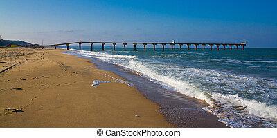 Sea strand with wharf 2