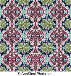 Seamless background image of vintage flower plant vine kaleidoscope pattern.
