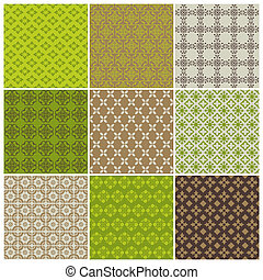 Seamless backgrounds Collection - Vintage Tile - for design and scrapbook - in vector