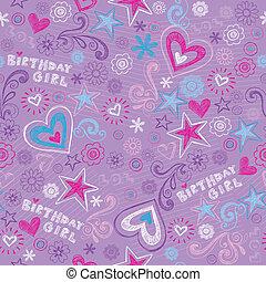 Seamless Birthday Doodles Pattern