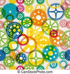 Seamless clockwork colorful background