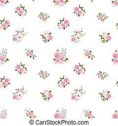 seamless cute vintage rose pattern