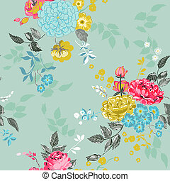 Seamless Floral Background - for design, scrapbook - in vector