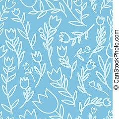 Seamless floral cartoon pattern