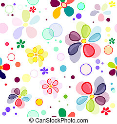 Seamless floral vivid pattern with deformed flowers (vector EPS 10)