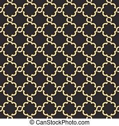 Seamless geometric interlacing pattern.