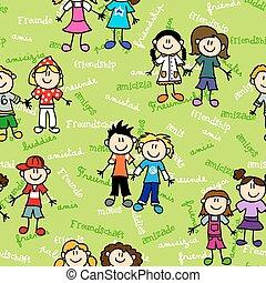 Seamless kids friendship pattern