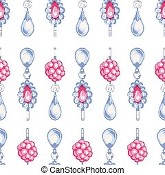 Seamless pattern of jewels