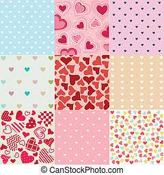Seamless patterns Valentine's Day