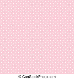 Seamless pattern, small white polka dots, pastel pink background for arts, crafts, fabrics, decorating, baby albums, scrapbooks. EPS8 includes pattern swatch that will seamlessly fill any shape.