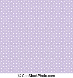 Seamless pattern, small white polka dots, pastel lavender background for arts, crafts, fabrics, decorating, baby albums, scrapbooks. EPS8 includes pattern swatch that will seamlessly fill any shape.