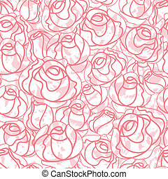 Seamless roses pattern, backdrop, vector design element