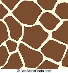 Seamless tiling giraffe skin animal