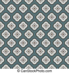 Seamless vector geometric quatrefoil rosette pattern background.