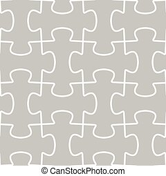 Seamless Vector Pattern Tile with Puzzle Outline