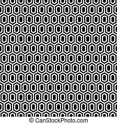 Seamless vintage honeycomb lattice trellis pattern